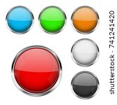 round glass buttons. colored... | Shutterstock . vector #741241420