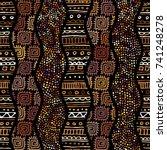 ethnic boho seamless pattern in ... | Shutterstock .eps vector #741248278