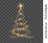 christmas tree on transparent... | Shutterstock .eps vector #741249868