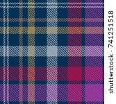 contrast checkered print.... | Shutterstock .eps vector #741251518
