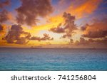 isla mujeres island caribbean... | Shutterstock . vector #741256804