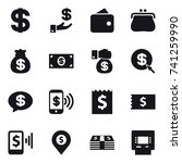 16 vector icon set   dollar ... | Shutterstock .eps vector #741259990