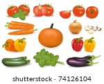 the big colorful collection of...   Shutterstock . vector #74126104