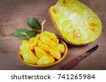 Tropical Jack Fruit On The Woo...