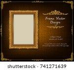 thailand royal gold frame on... | Shutterstock .eps vector #741271639
