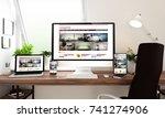 3d rendering of computer ... | Shutterstock . vector #741274906
