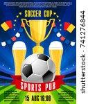 soccer sports pub or bar poster ... | Shutterstock .eps vector #741276844