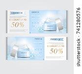 gift voucher hydrating facial... | Shutterstock .eps vector #741280576