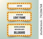 set of retro banners with bulbs.... | Shutterstock .eps vector #741286768