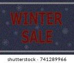 christmas advertising text on... | Shutterstock .eps vector #741289966