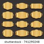 retro vintage frames collection ... | Shutterstock .eps vector #741290248