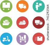origami corner style icon set   ... | Shutterstock .eps vector #741292564