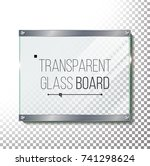 transparent glass plate mock up ... | Shutterstock .eps vector #741298624