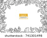 template of realistic branches... | Shutterstock .eps vector #741301498