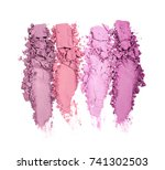 smear of crushed multicolored... | Shutterstock . vector #741302503