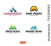 mountain logo design template... | Shutterstock .eps vector #741304063