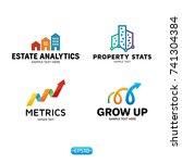 metrics logo design template... | Shutterstock .eps vector #741304384