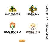 house logo design template set. ... | Shutterstock .eps vector #741304393