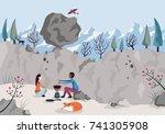 concept of risk. risk... | Shutterstock . vector #741305908