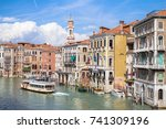 view to canal grande from... | Shutterstock . vector #741309196