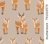 beautiful seamless pattern with ... | Shutterstock .eps vector #741310573
