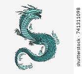Chinese Dragon  Hand Drawn...