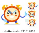 cute alarm clock child ticker... | Shutterstock .eps vector #741312013