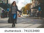 Trendy Fashion Woman In Coat...