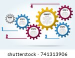 gear wheels info graphic for... | Shutterstock .eps vector #741313906