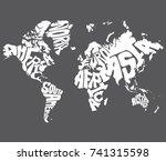 world map | Shutterstock .eps vector #741315598