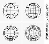 globes | Shutterstock .eps vector #741319390