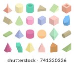 isometric 3d geometric color... | Shutterstock .eps vector #741320326