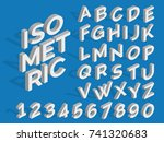 vector isometric alphabet and... | Shutterstock .eps vector #741320683