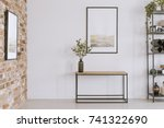 simple painting above wooden... | Shutterstock . vector #741322690