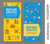 home repair flyer banner... | Shutterstock .eps vector #741323449