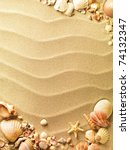 sea shells with sand as... | Shutterstock . vector #74132347