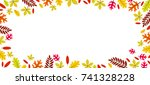 beautiful autumn leaves frame... | Shutterstock .eps vector #741328228