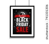 black friday sale poster on... | Shutterstock .eps vector #741331306