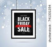 black friday sale poster on... | Shutterstock .eps vector #741331354