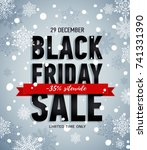 black friday sale banner with... | Shutterstock .eps vector #741331390
