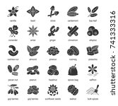 spices glyph icons set....   Shutterstock . vector #741333316