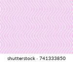 alternate zigzag lines of pink...   Shutterstock .eps vector #741333850