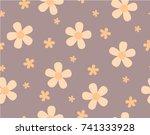 flower and mini size flower on...   Shutterstock .eps vector #741333928