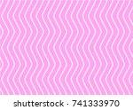 alternate zigzag lines of pink...   Shutterstock .eps vector #741333970