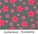 flower and mini size flower on...   Shutterstock .eps vector #741334054
