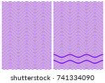 alternate zigzag lines of blue...   Shutterstock .eps vector #741334090