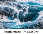 vertiginous  swirling foamy... | Shutterstock . vector #741335299