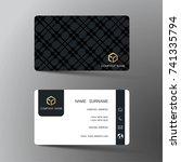 modern business card template...   Shutterstock .eps vector #741335794