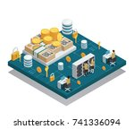 cryptocurrency and blockchain... | Shutterstock .eps vector #741336094