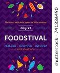 food festival poster design... | Shutterstock .eps vector #741336490